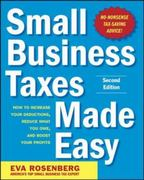 Small Business Taxes Made Easy, Second Edition 2nd Edition 9780071743273 0071743278