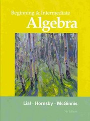 Beginning and Intermediate Algebra 5th edition 9780321715425 032171542X