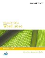 New Perspectives on Microsoft Word 2010 1st Edition 9780538748940 053874894X