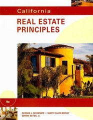 California Real Estate Principles 9th edition 9780538739658 0538739657