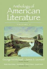 Anthology of American Literature, Volume I 10th Edition 9780205779390 0205779395