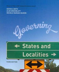 Governing States and Localities 3rd edition 9781604267280 1604267283