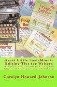 Great Little Last-Minute Editing Tips for Writers 0 9781450507653 1450507654