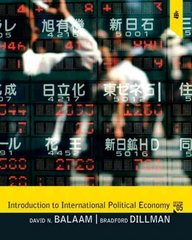 Introduction to International Political Economy 5th edition 9780205791385 0205791387
