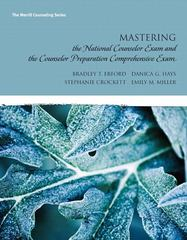 Mastering the National Counselor Exam and the Counselor Preparation Comprehensive Exam 1st edition 9780137017508 0137017502