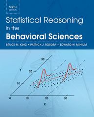 Statistical Reasoning in the Behavioral Sciences 6th edition 9780470643822 047064382X