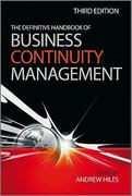 The Definitive Handbook of Business Continuity Management 3rd edition 9780470670149 0470670142