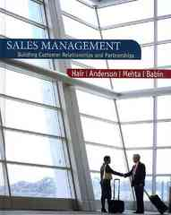 Sales Management 1st edition 9780618721016 0618721010