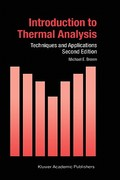 Introduction to Thermal Analysis 2nd edition 9781402002113 1402002114