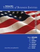 Taxation of Business Entities, 2011 Edition with Connect Plus 2nd edition 9780077433505 0077433505