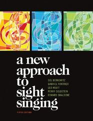 A New Approach to Sight Singing 5th Edition 9780393911503 0393911500
