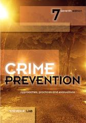 Crime Prevention 7th edition 9781422463277 1422463273