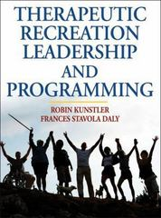 Therapeutic Recreation Leadership and Programming 0 9780736068550 0736068554