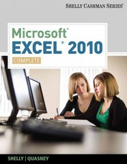 Microsoft Excel 2010 1st Edition 9780538750059 0538750057
