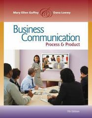 Business Communication 7th Edition 9780538466257 0538466251