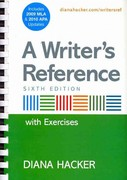 Writer's Reference with Integrated Exercises with 2009 MLA and 2010 APA Updates & Research Pack 6th edition 9780312668020 0312668023