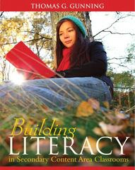Building Literacy in Secondary Content Area Classrooms 1st Edition 9780205580811 0205580815