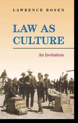 Law as Culture 1st Edition 9780691136448 0691136440