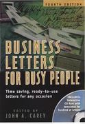 Business Letters for Busy People 4th edition 9781564146120 156414612X