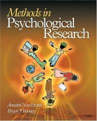 Methods in Psychological Research 1st edition 9781412924856 1412924855