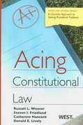 Acing Constitutional Law 1st edition 9780314181350 0314181350