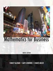 Mathematics for Business 9th edition 9780135063941 0135063949