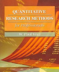 Quantitative Research Methods for Professionals in Education and Other Fields 1st Edition 9780205359134 0205359132