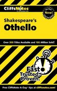 CliffsNotes on Shakespeare's Othello 1st edition 9780764585876 0764585878