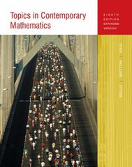 Topics in Contemporary Mathematics 8th edition 9780618347551 0618347550