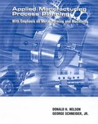 Applied Manufacturing Process Planning 1st edition 9780135324585 0135324580