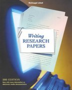 Writing Research Papers 2001 0 9780618053247 0618053247
