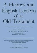 A Hebrew and English Lexicon of the Old Testament 2nd Edition 9780198643012 0198643012