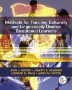 Methods for Teaching  Culturally and Linguistically Diverse Exceptional Learners 1st Edition 9780131720237 0131720236