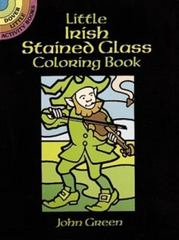 Little Irish Stained Glass Coloring Book 0 9780486264998 0486264998