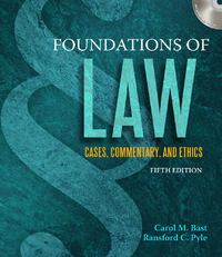 Foundations of Law 5th edition 9781435440845 1435440846