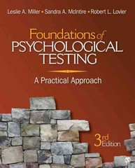 Foundations of Psychological Testing 3rd edition 9781412976398 1412976391