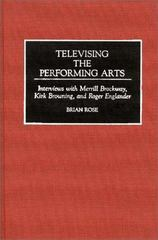 Televising the Performing Arts 0 9780313286179 0313286175