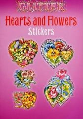 Glitter Hearts and Flowers Stickers 0 9780486439402 0486439402
