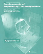Fundamentals of Engineering Thermodynamics, Appendices 5th edition 9780471469308 0471469300