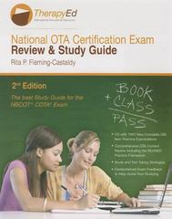 National OTA Certification Exam Review and Study Guide 2nd Edition 9780984339327 0984339329