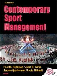 Contemporary Sport Management 4th Edition 9780736081672 0736081674