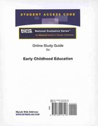 Access Code Card for the Online Tutorial for the National Evaluation Series Early Childhood Education Test 1st edition 9780132118118 0132118114