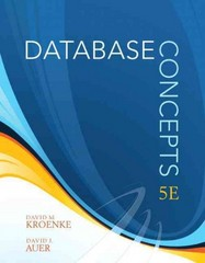 Database Concepts 5th edition 9780138018801 0138018804
