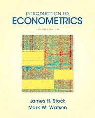 Introduction to Econometrics 3rd edition 9780138009007 0138009007
