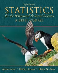 Statistics for The Behavioral and Social Sciences 5th edition 9780205797257 0205797253