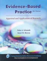 Evidence-Based Practice for Nurses 1st Edition 9780763744373 0763744379