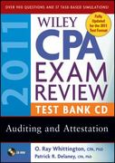 Wiley CPA Exam Review 2011 Test Bank CD , Auditing and Attestation 16th edition 9780470554296 0470554290