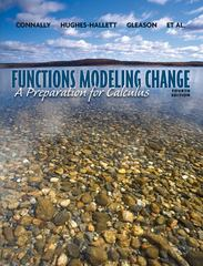 Functions Modeling Change 4th edition 9780470484746 0470484748