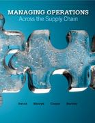 Loose-leaf Managing Operations Across the Supply Chain 1st edition 9780077403621 0077403622