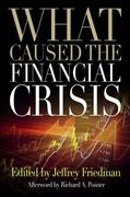 What Caused the Financial Crisis 0 9780812221183 0812221184